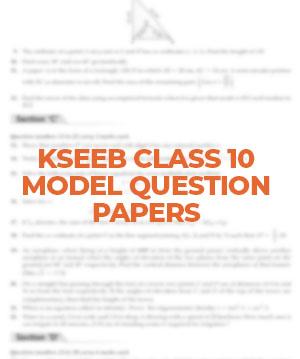 KSSEB Class 10 Maths Model Question Paper 1 - 2021